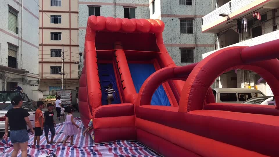 2018 New design giant inflatable water slide, use commercial inflatable water slide for sale