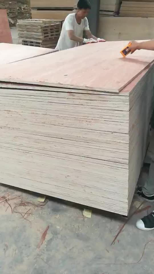 good quality  two times hot press poplar core furniture grade  plywood 15mm
