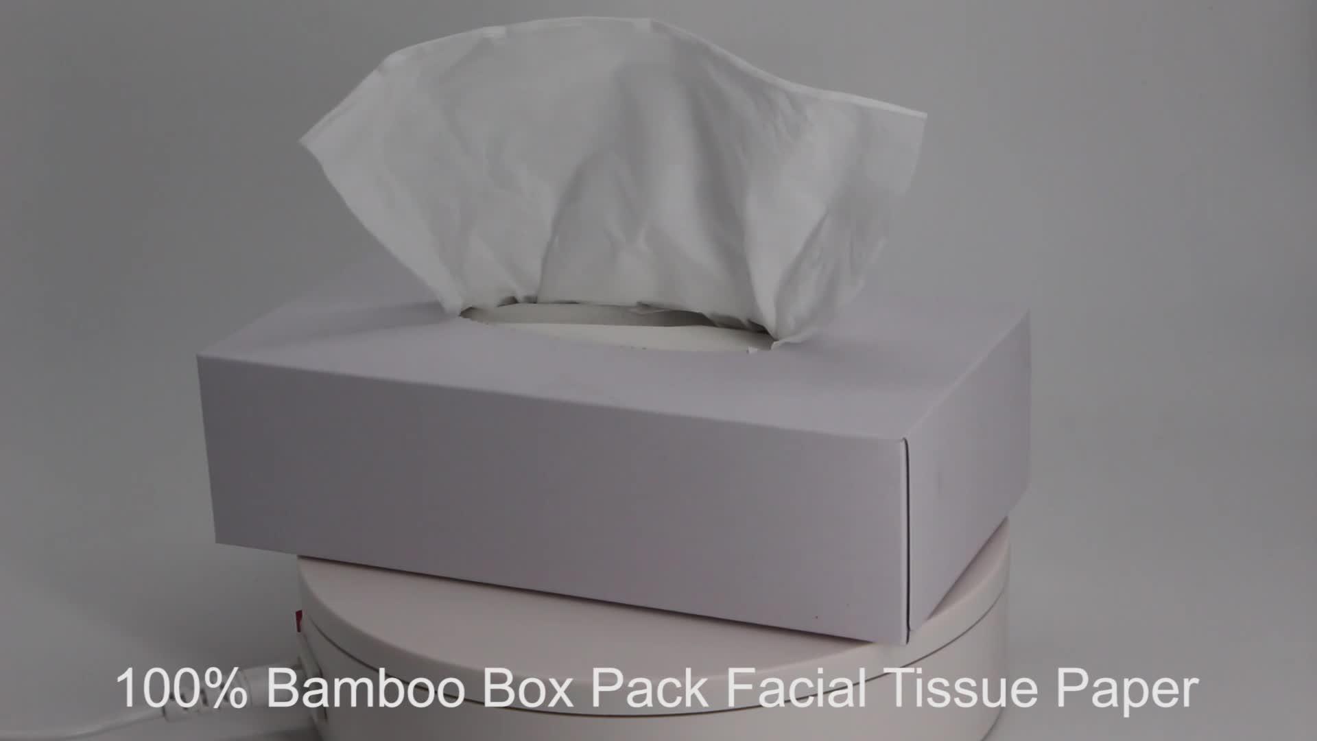FSC Bamboo Fiber Tissue Paper Cube Box Facial Tissue