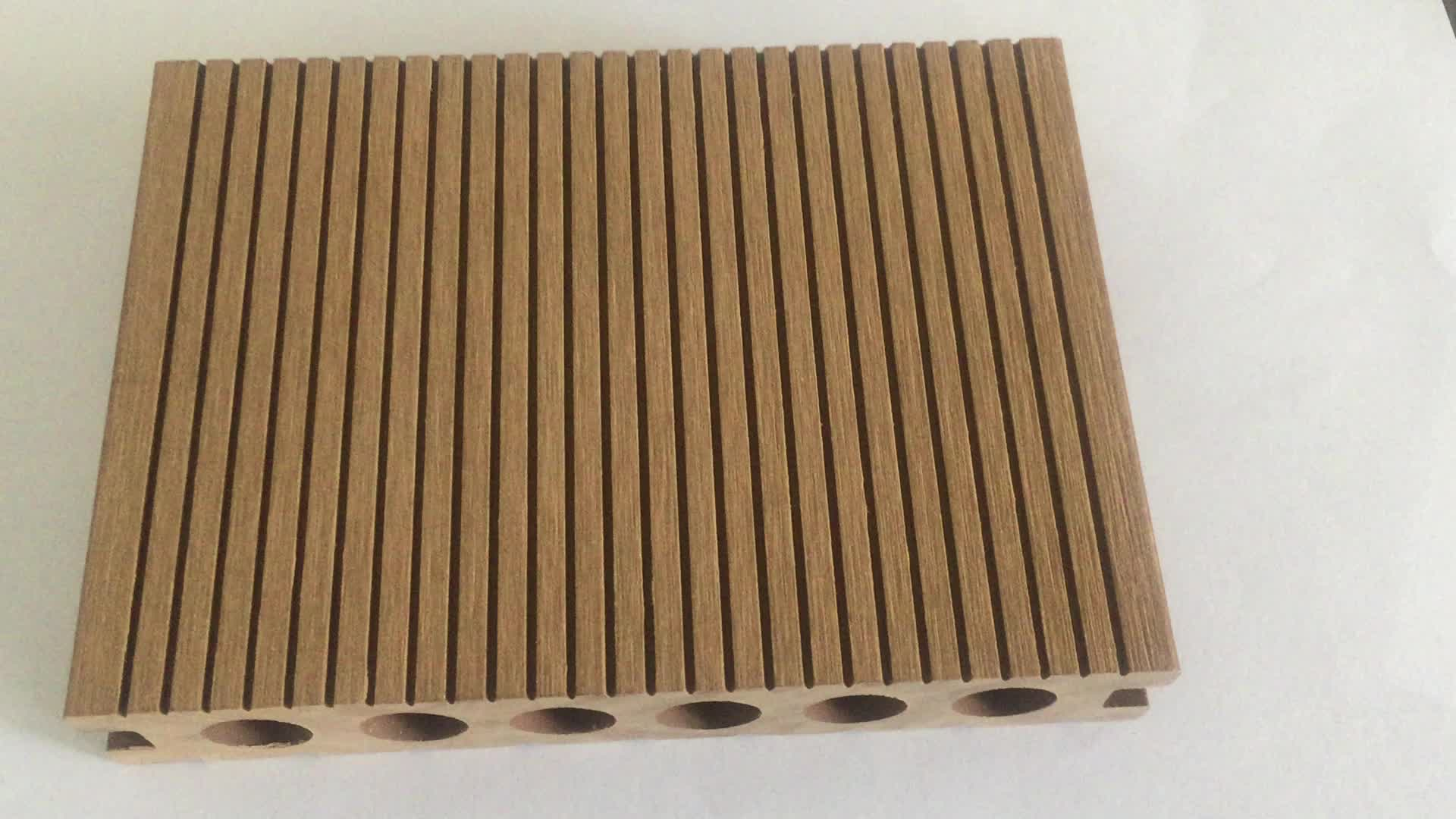 Fabrik Preis WPC Decking Recycelt PWC boden kunststoff verbund Laminat Bodenbelag Anti-Uv Outdoor Decking