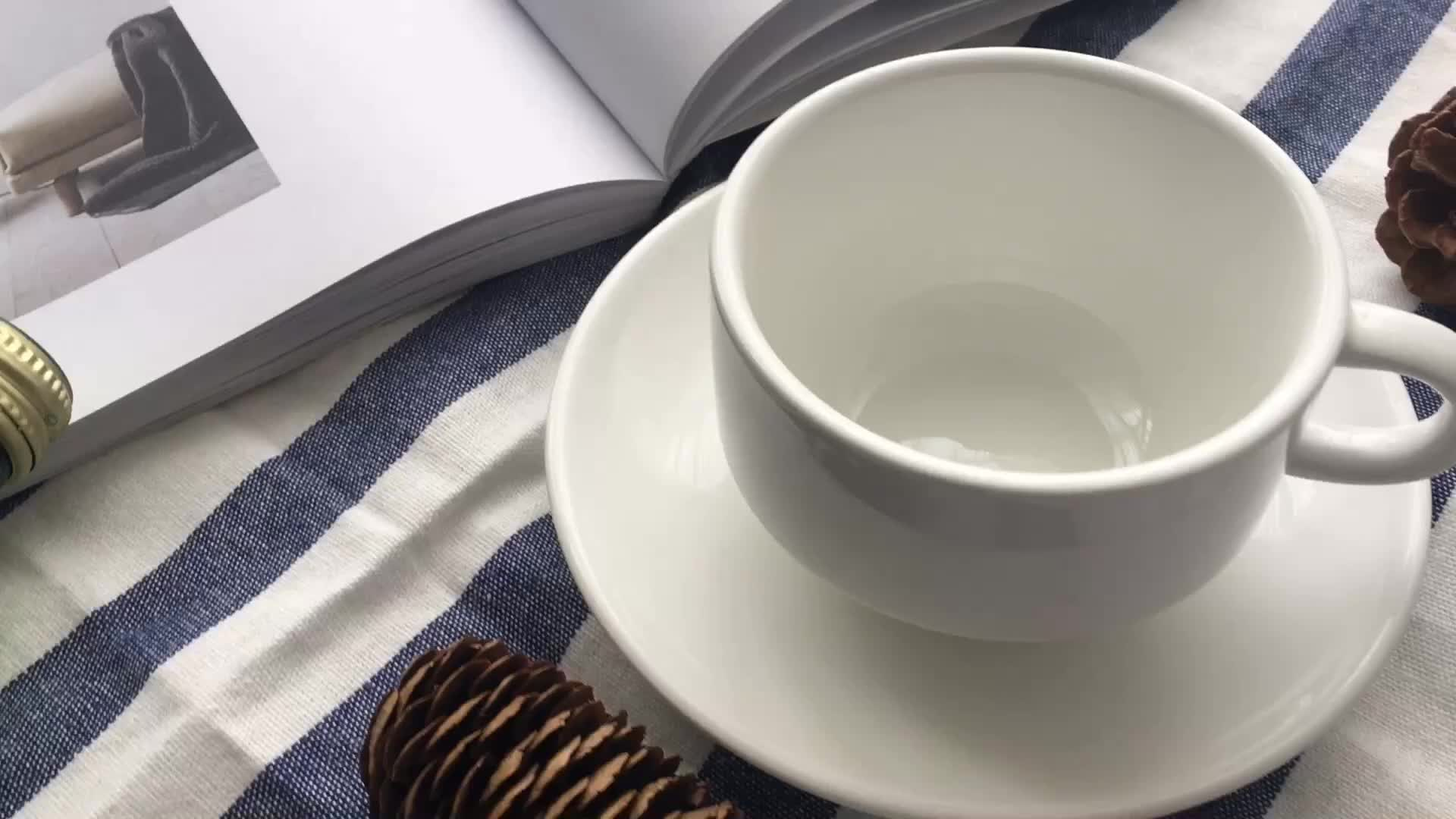 Custom Ceramic Coffee Cup Saucer