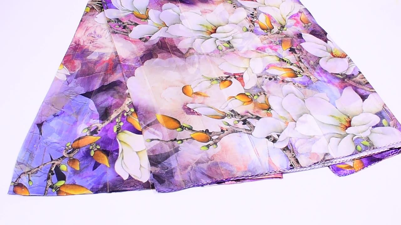 factory direct custom satin scarf for women