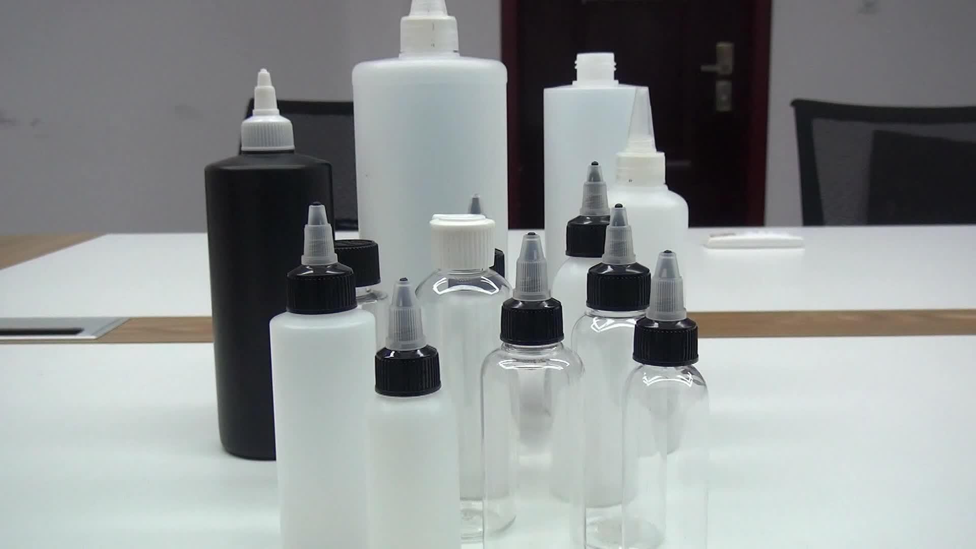 Spalla Piatto vuoto 250 ml 500 ml 1000 ml 1L PE Colla spremere bottiglia di plastica contagocce con Vite twist top cap
