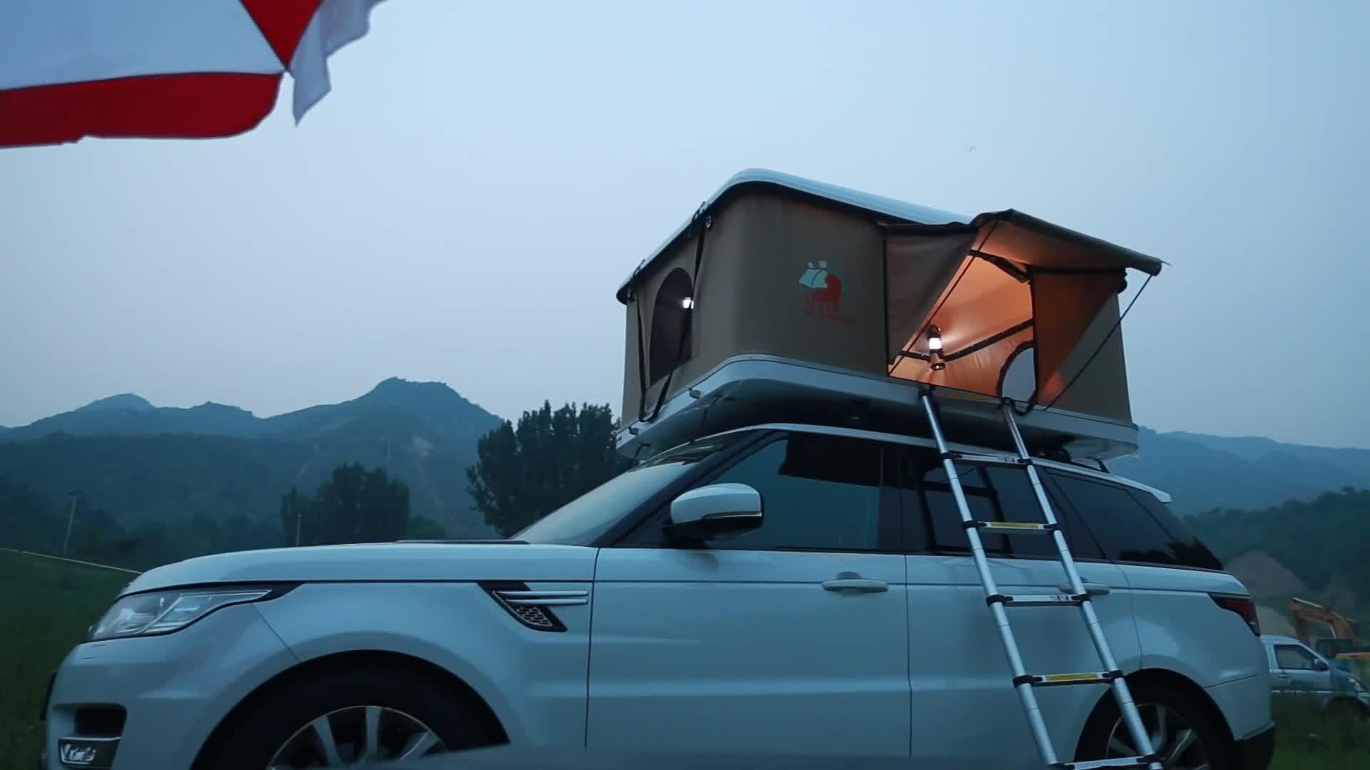 Maggiolina Fiberglass Camping Hard Shell 4x4 Suv Car Top