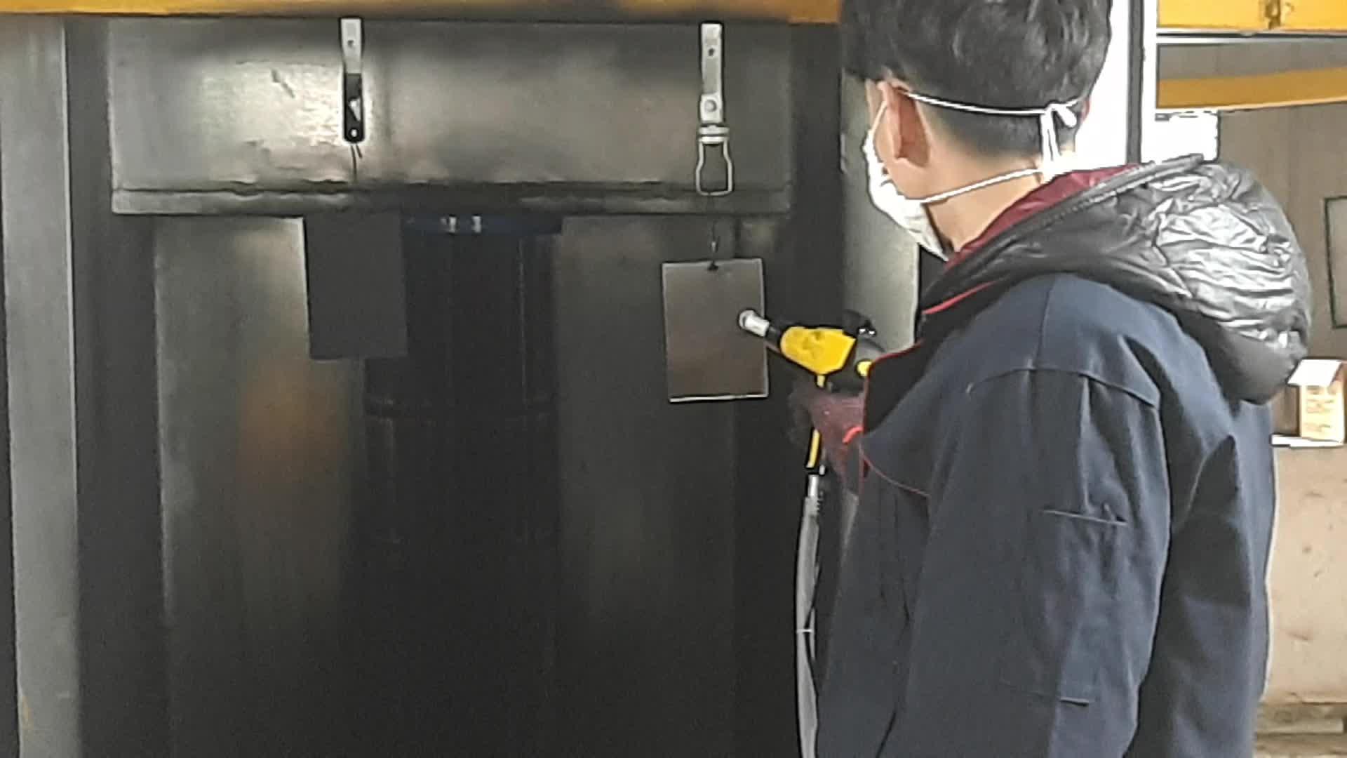 Línea de recubrimiento en polvo de sistema de equipo automático máquina de pulverización de THD003