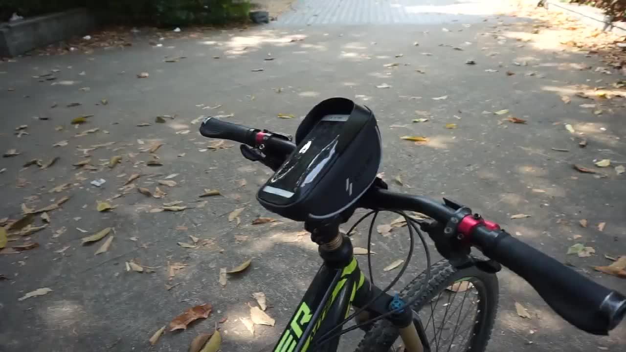 Soporte de teléfono móvil VANNO de 6,0 pulgadas para navegación, pantalla táctil frontal, bolsa para teléfono de bicicleta, bolsa impermeable para manillar de bicicleta