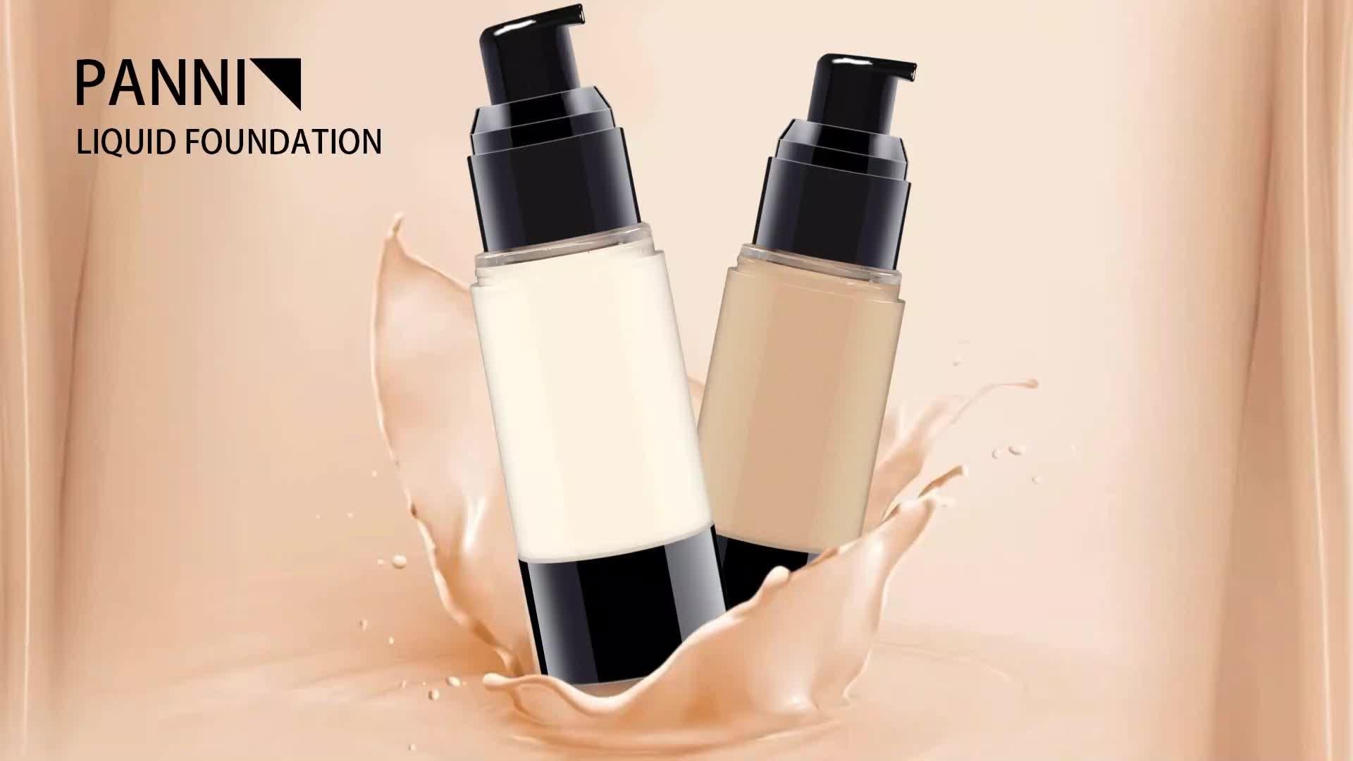 Sıcak satış 12 Renkler Makyaj vakfı Yüksek kalite SPF15 Su Geçirmez private label sıvı vakfı