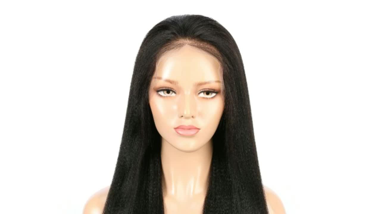 자연 색상 100% 버진 브라질 인간의 머리 레이스 프론트 가발