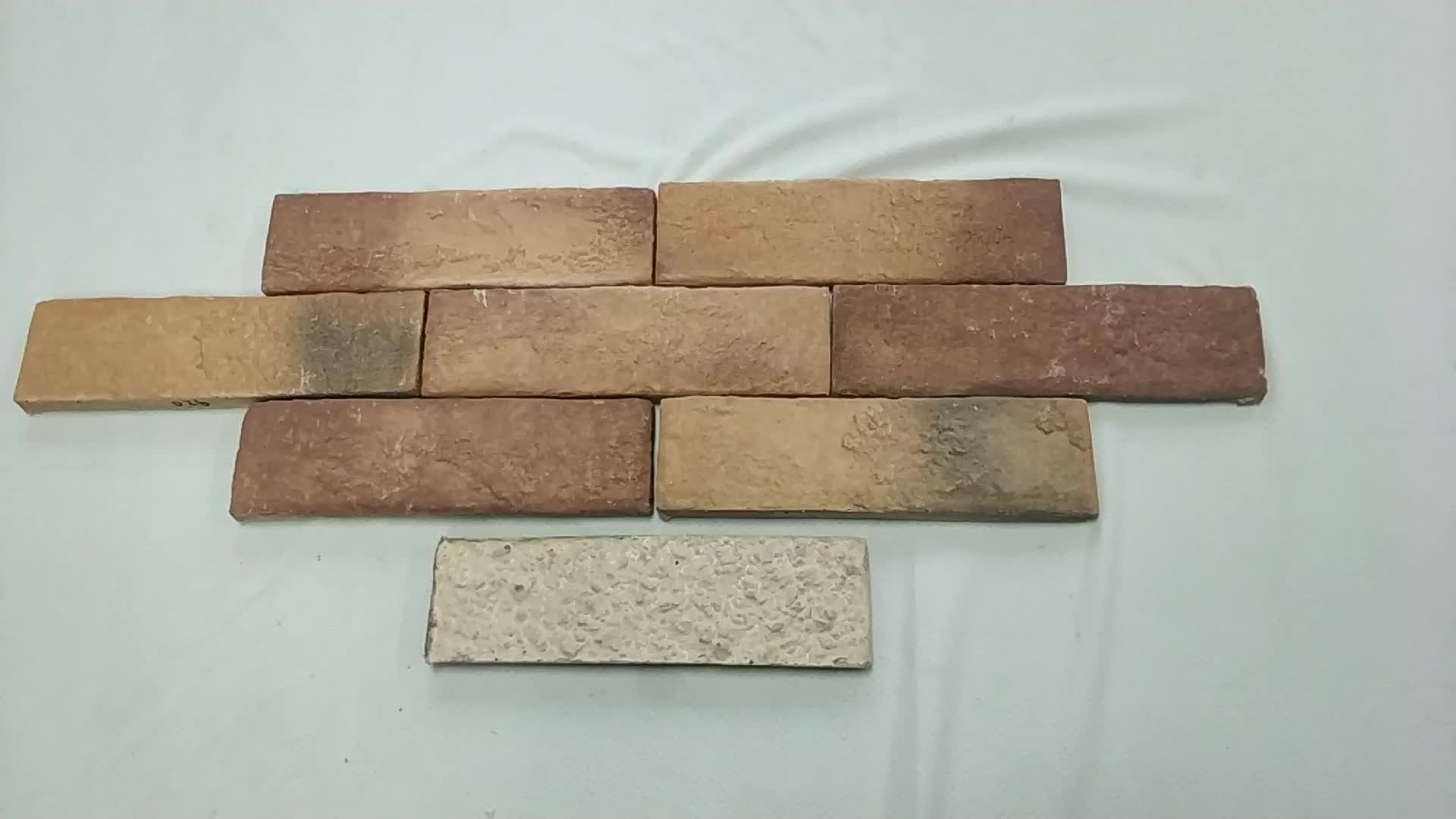 Groothandel villar faux baksteen ontwerp muur decoratieve kunstmatige cement flexibele wandtegels