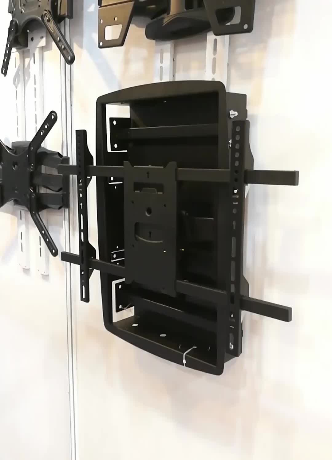 180 Degrees Swivel Recessed TV Wall Mount For Canada Market