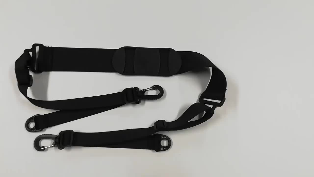 Poly Web Replacement Shoulder Luggage Travel Bag Strap Black with best price