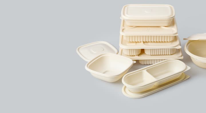 Corn starch container bowls biodegradable packaging boxes