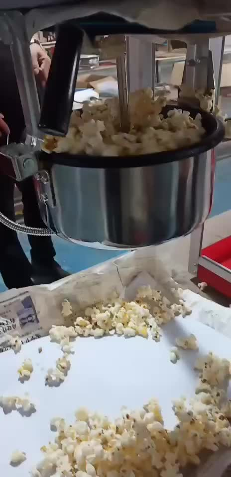 Strong structure 8Oz Kettle Commercial Popcorn Machine Distributrice Popcorn Making Operated  With Safe Organic Glasses Factory