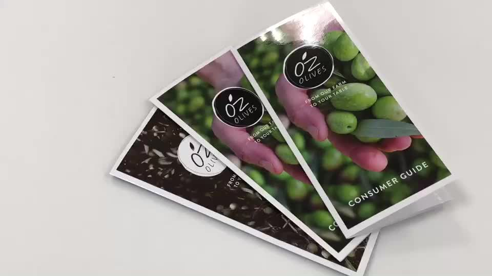 Impress your clients at first sight laminated folded promotional leaflets