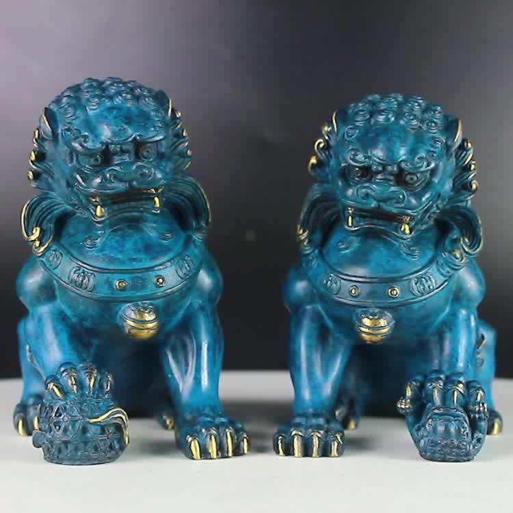 Indoor lion statue small for utensils of study and ornament of room bronze lion statues for sale