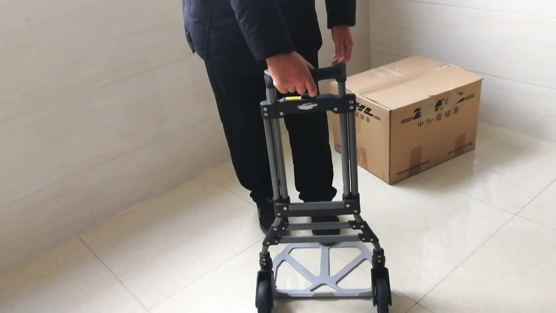 Two-wheel 90 Kgs load capacity foldable hand trolley folding luggage cart