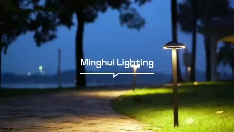Pemandangan Post Bollard Lampu Taman Tiang Lampu Dekoratif Padang Rumput Lampu Taman Berdiri Lampu Lampu Taman