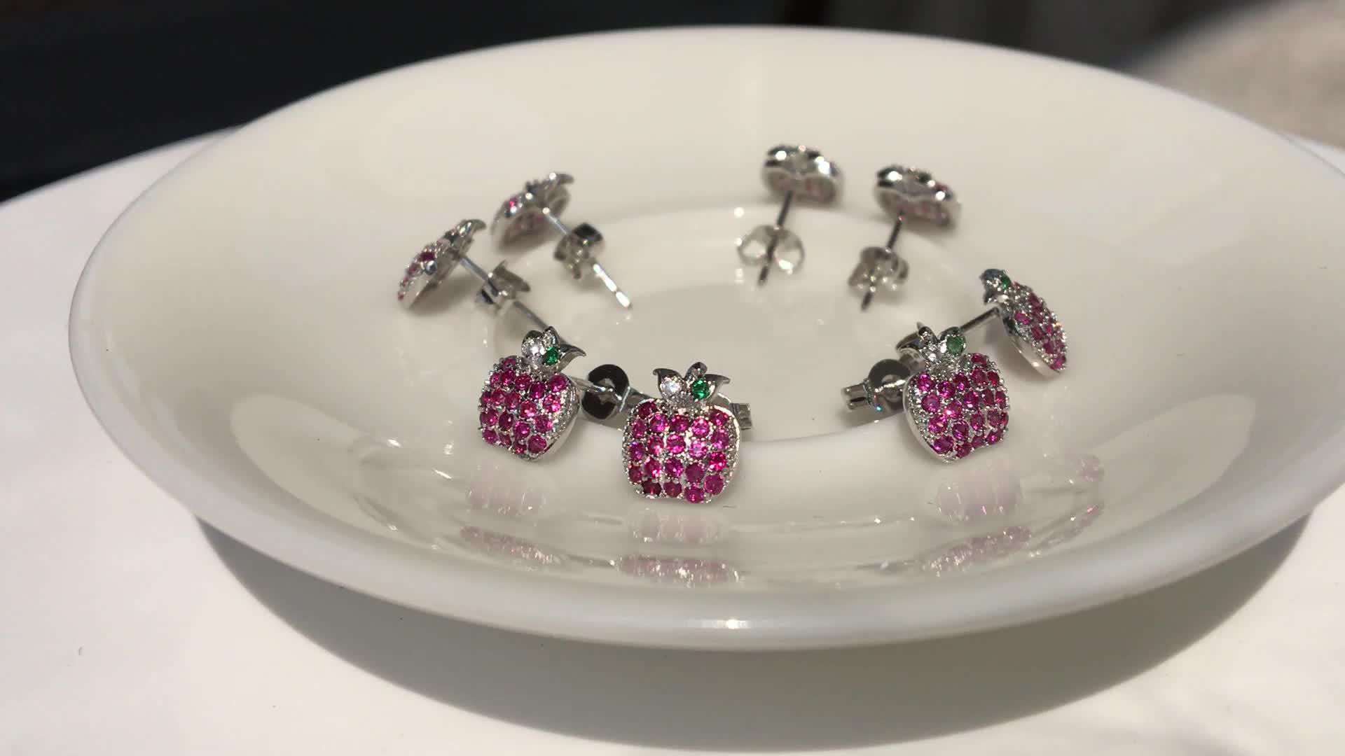 Auley Fashion Cubic Zircon 925 Silver Stud Earrings For Women