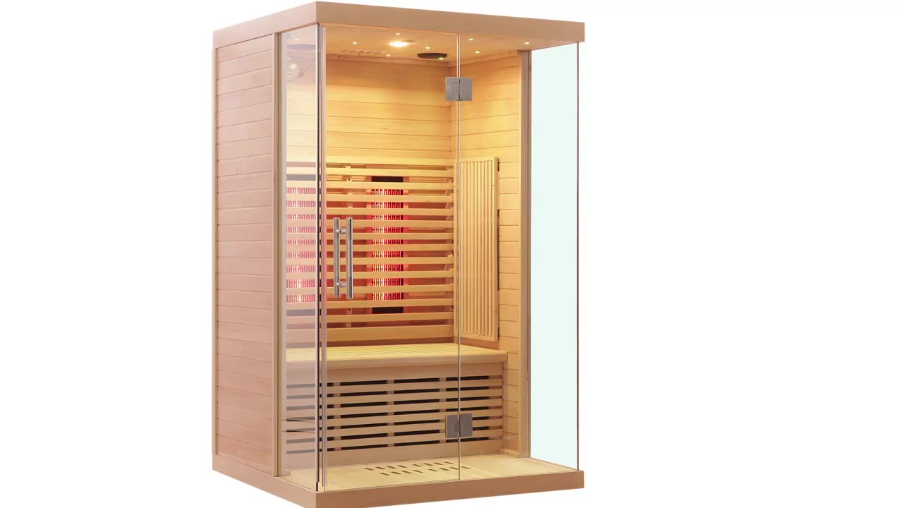 2020 factory supply far infrared sauna room with star light for 2 person