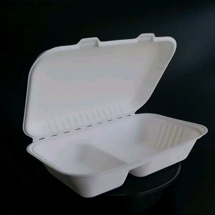 biodegradable fibre disposable fast food packing box