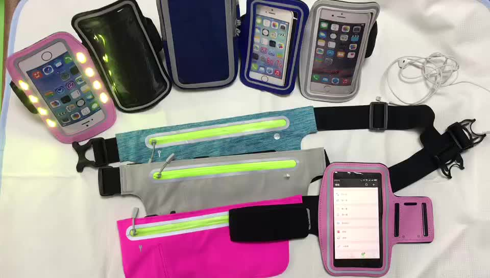 Stock Running Armband  Sports Arm Band Gym Wrist Bag Touchscreen Sleeve Case with Extensible Belt for Mobile Phone  EXW Price