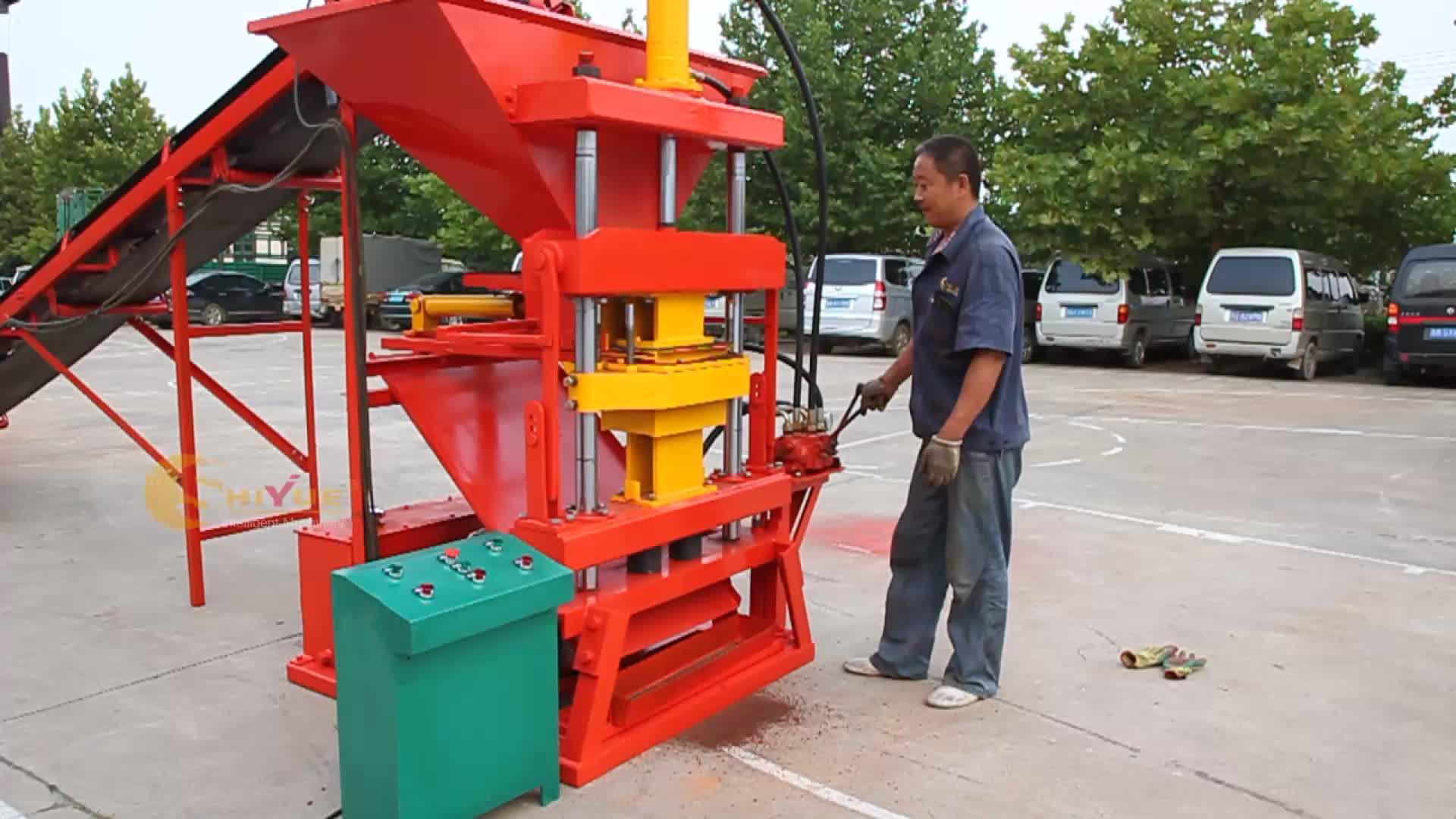 ECO2700 soil cement block making machine/manual interlock brick machine