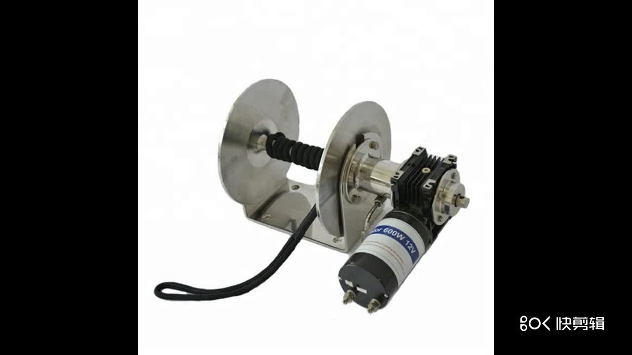 12V 600W 316 Stainless Steel salt water anchor drum winch fitting chains and ropes VW-011