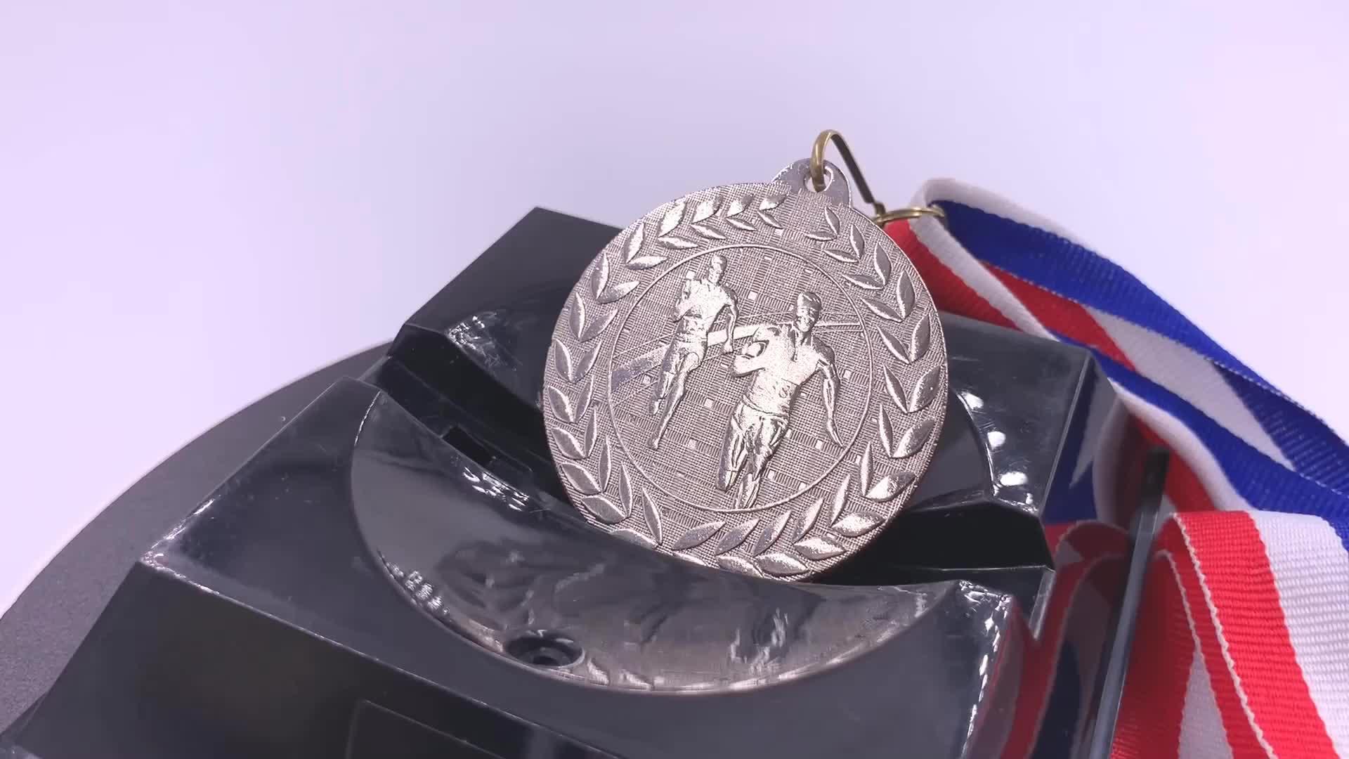 Personalizado De Metal para a Execução de Medalhas Em Branco com Padrão Cordão