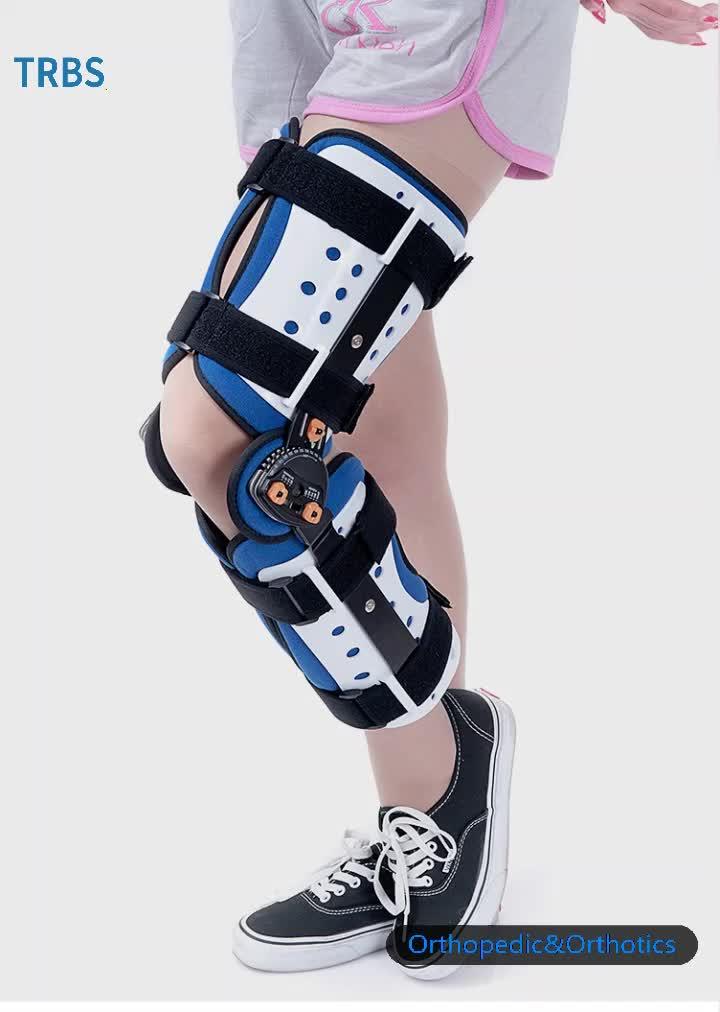 Fabrika doğrudan tedarik ayarlanabilir diz desteği ortopedik diz desteği brace