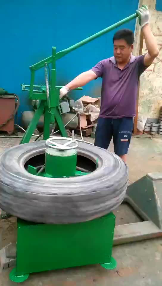 Recycling used waste tire sidewall cutting machine for sale