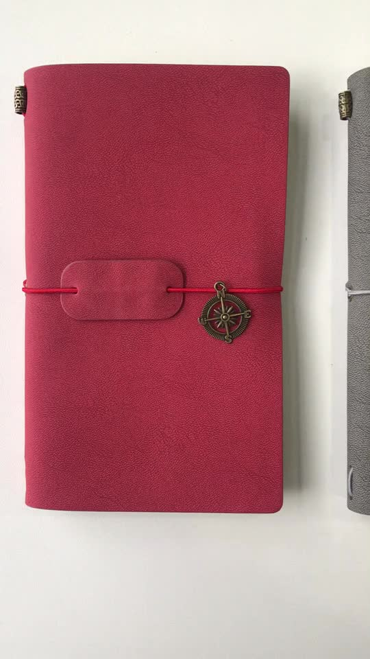 Special Design Travelers Leather Kraft Notebook Imported From China