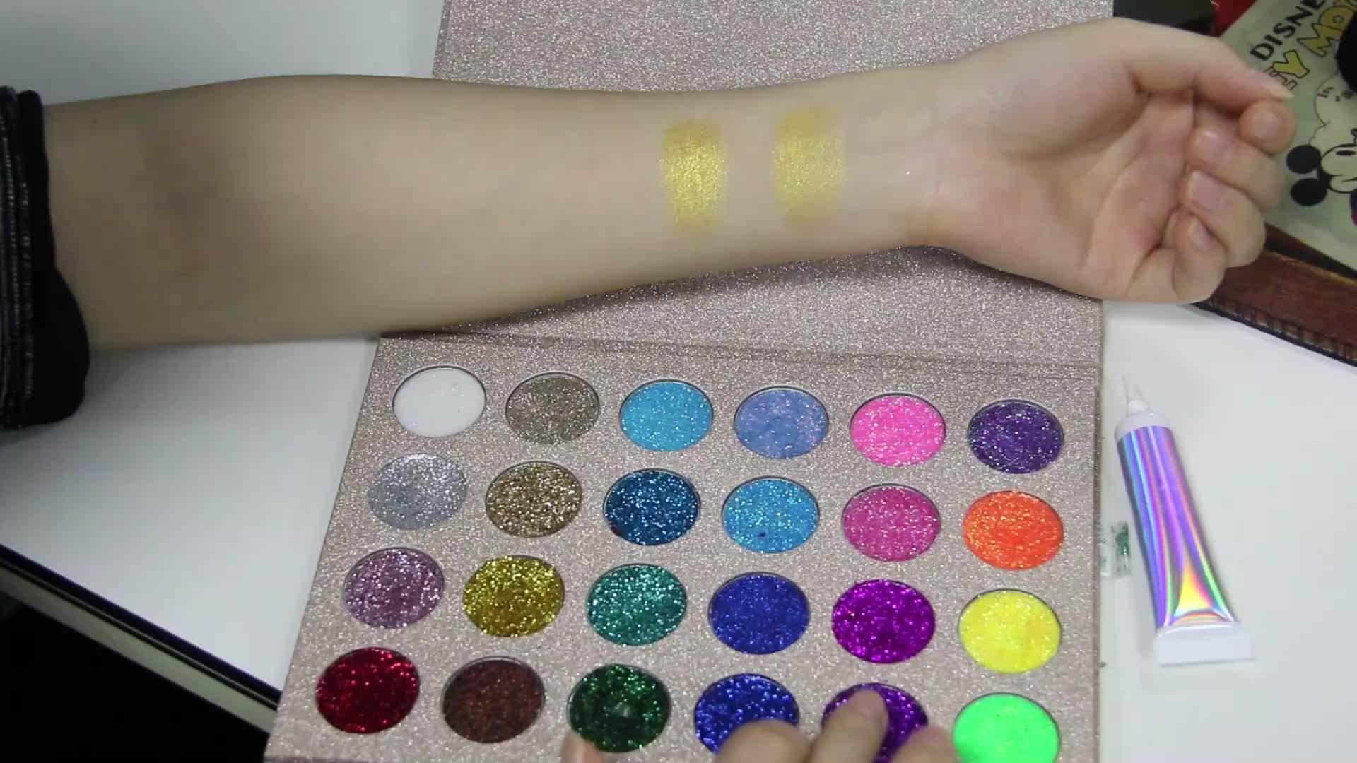 Oem Toptan Makyaj 24 Saat Göz farı Tabanı Özel Etiket Glitter Göz Farı Astarı