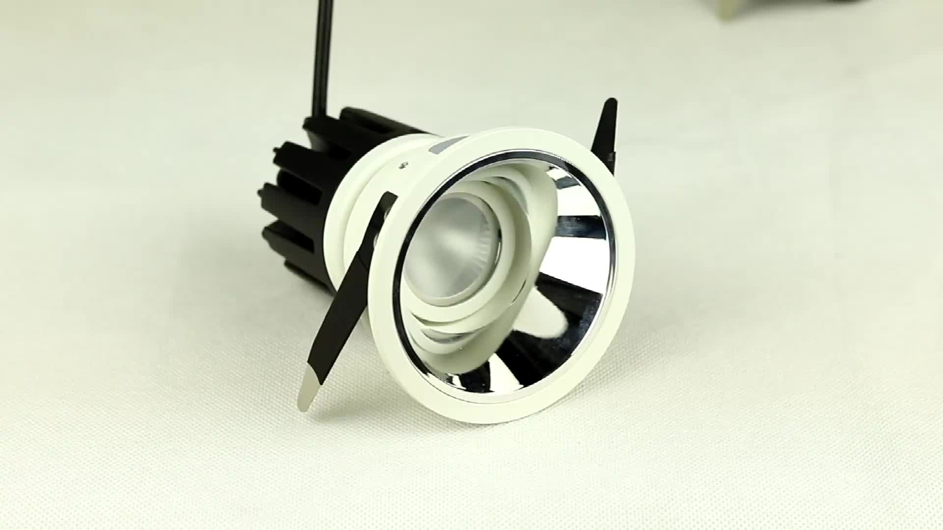 Adjustable CRI 90 5W 7W anti glare  Recessed LED downlight with Tridonic dimmable driver
