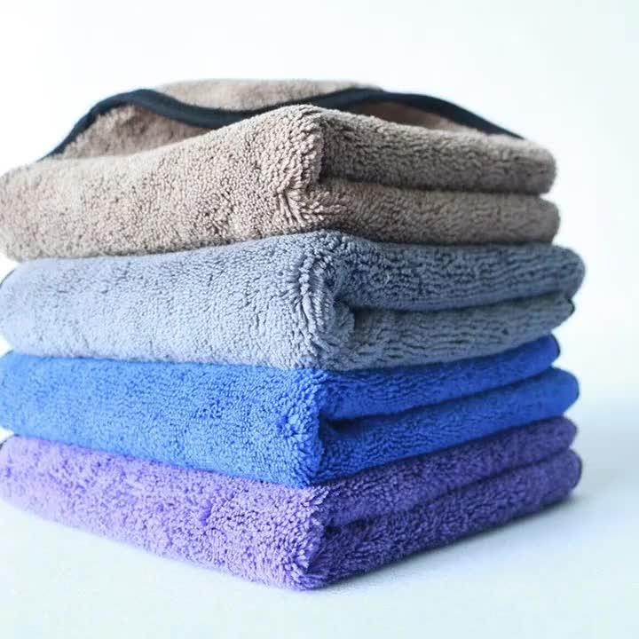 Super absorbent car washing towels 400-1200gsm microfiber car drying towel premium microfiber coral fleece towel