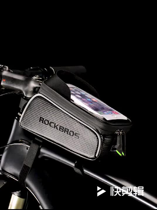 CBR ODM 017-1 PU Waterproof 6.0 Reflective Durable Mountain Road MTB Bike Top Tube Frame Bicycle Touch Screen Cell Phone Bag