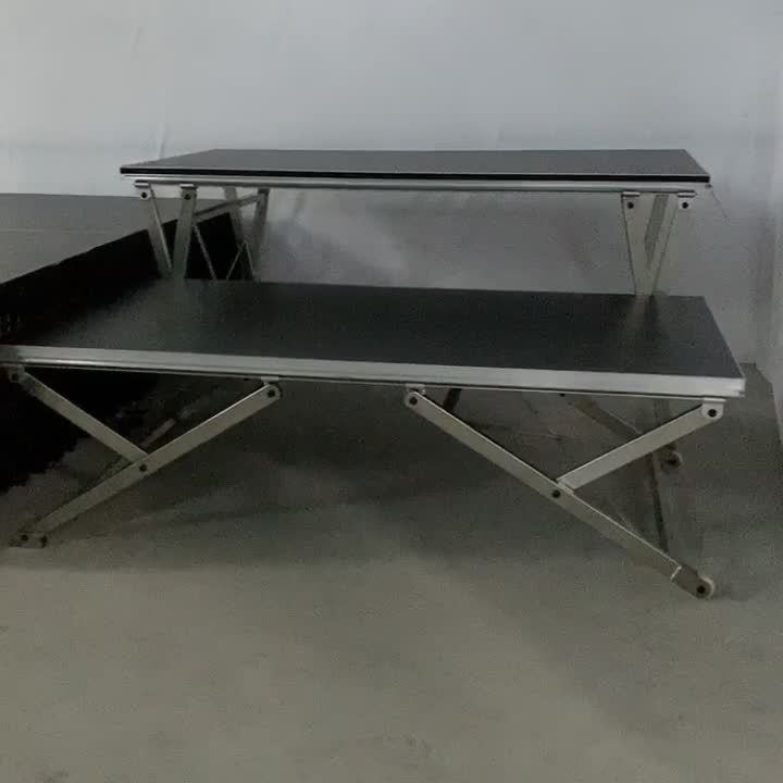 1m x 2m  Iron Frame folding stage with wheels x stage