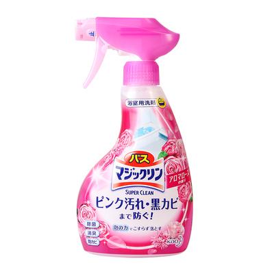 日本花王浴室去污防霉除菌清洁剂瓷砖玻璃去水垢多用玫瑰380ml