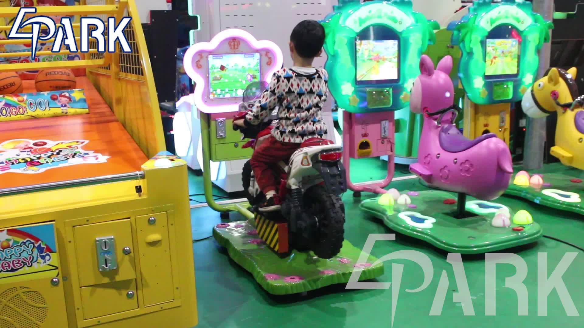 Indoor Sports Coin operated kids moto racing game simulation arcade racing car game machine kiddie rides