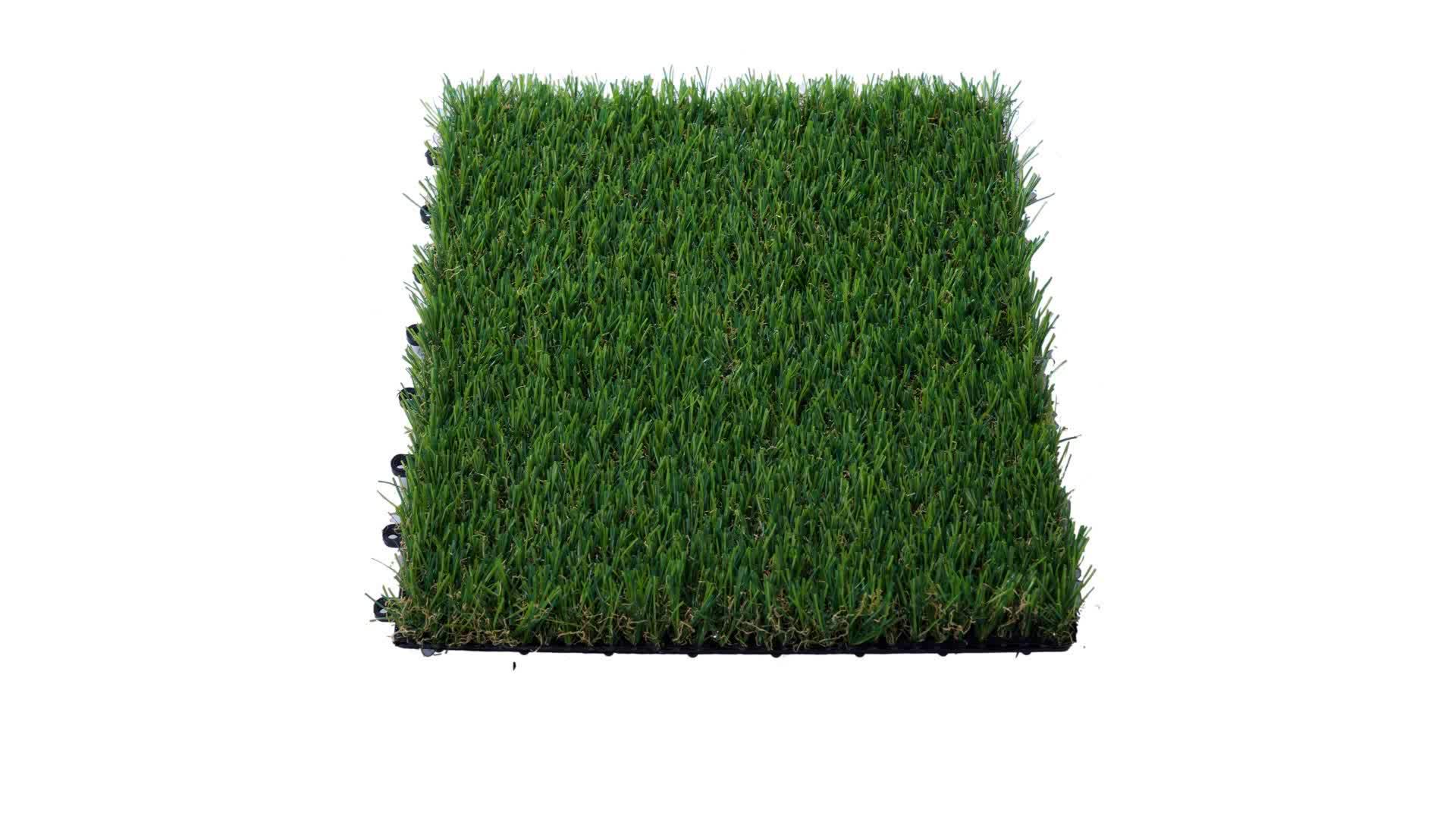 Il più veloce giardino makeover, Easy-fit erba artificiale e piano di calpestio, piastrelle FAI DA TE erba piastrelle