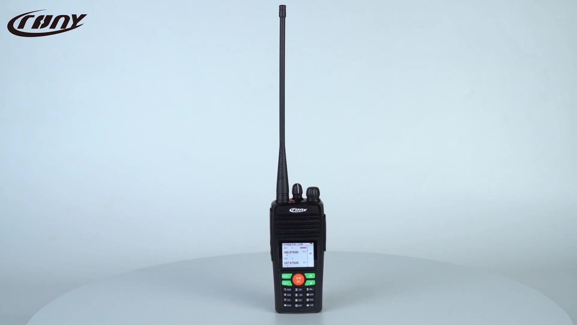 Handheld Calhar Dois Sentidos 15km 10Watt Grande display LCD de Rádio de Longo Alcance Transceptor VHF UHF Dual Band Walkie talkie DT-8188