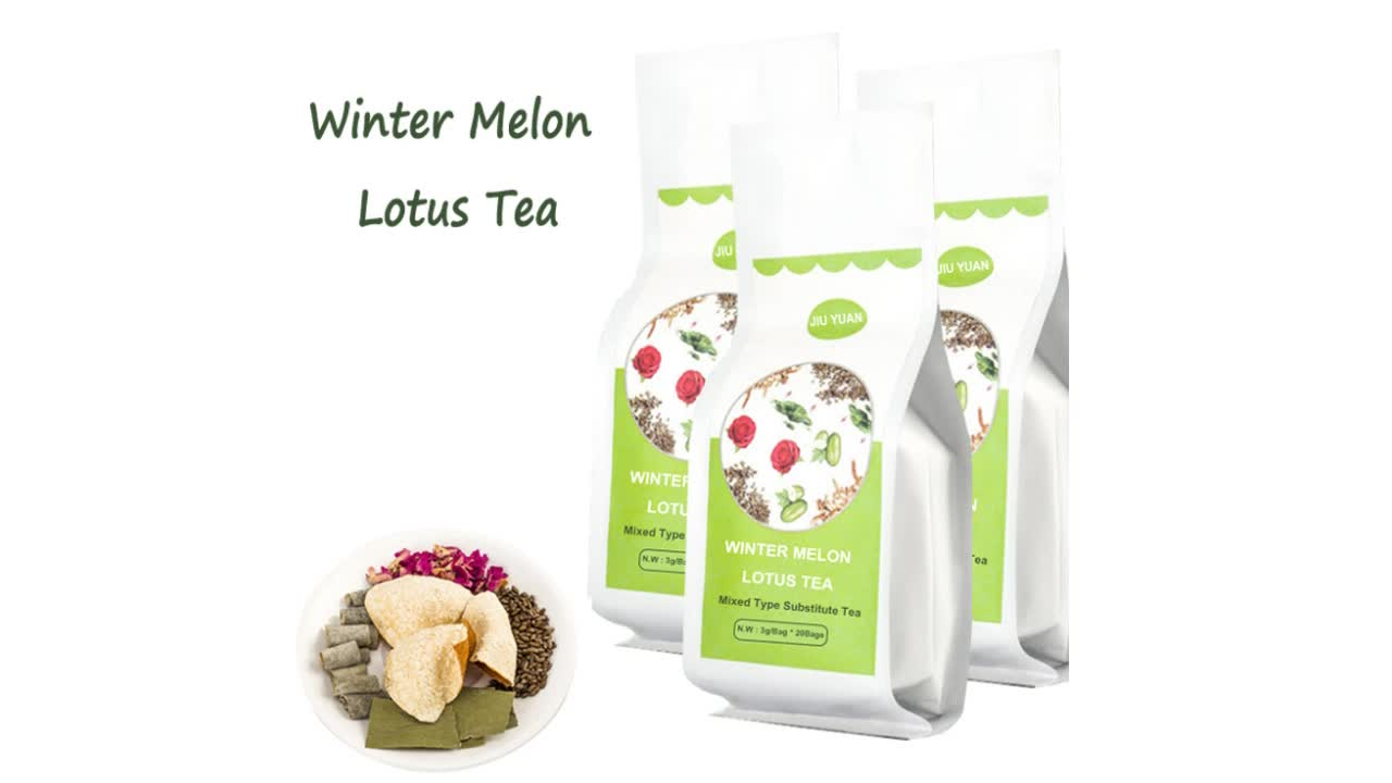Hot sell Winter melon lotus leaf tea Private label Flower tea bag