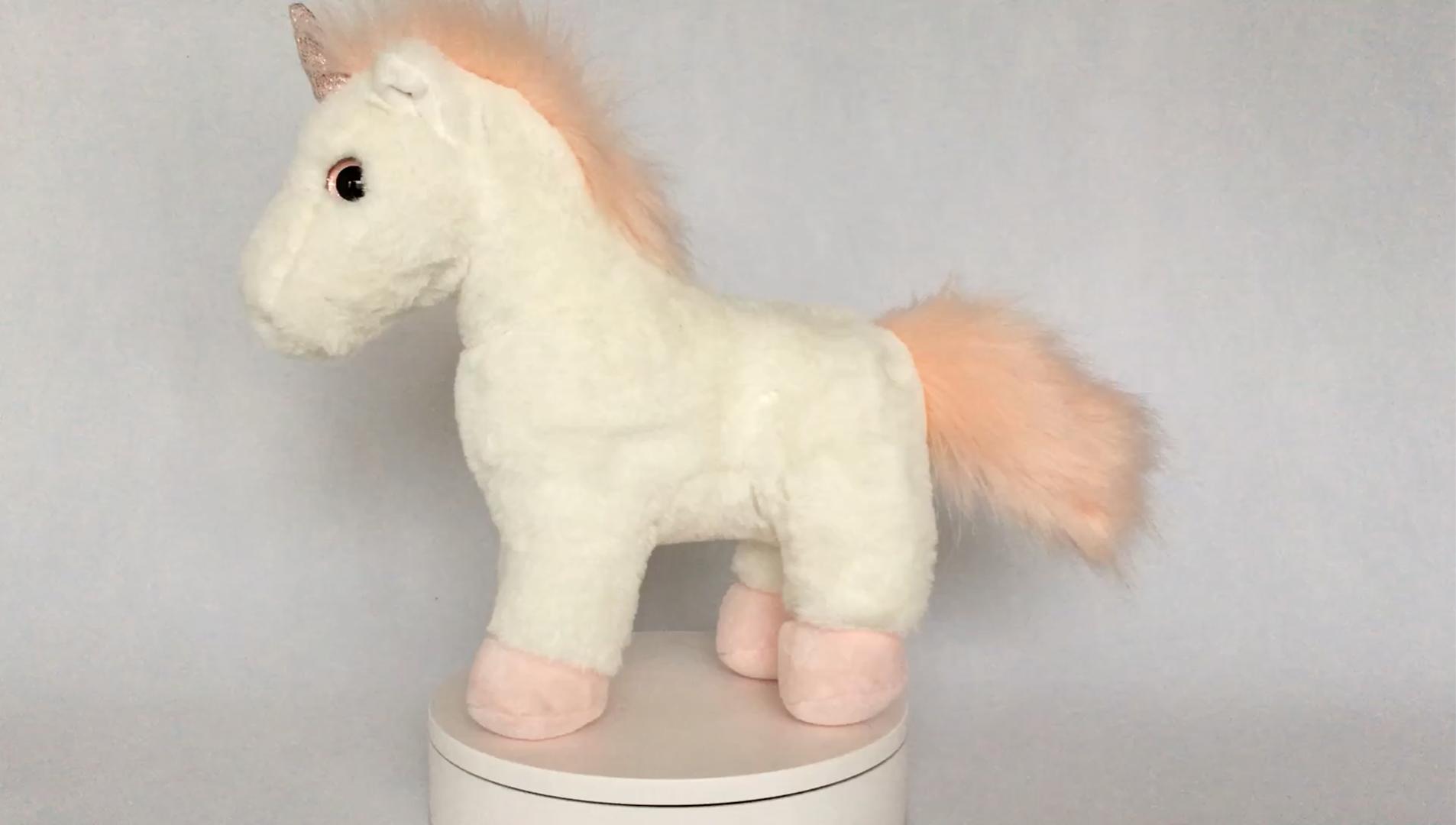 Toptan sevimli doldurulmuş hayvan tek boynuzlu at, peluş yumuşak tek boynuzlu at oyuncak çocuklar için