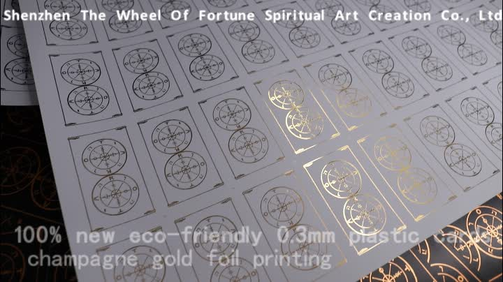 China Custom Oracle Card Decks With Gold Foil Printing