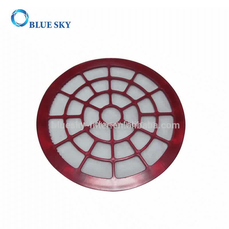 Red Circular HEPA Filter for Vacuum Cleaners