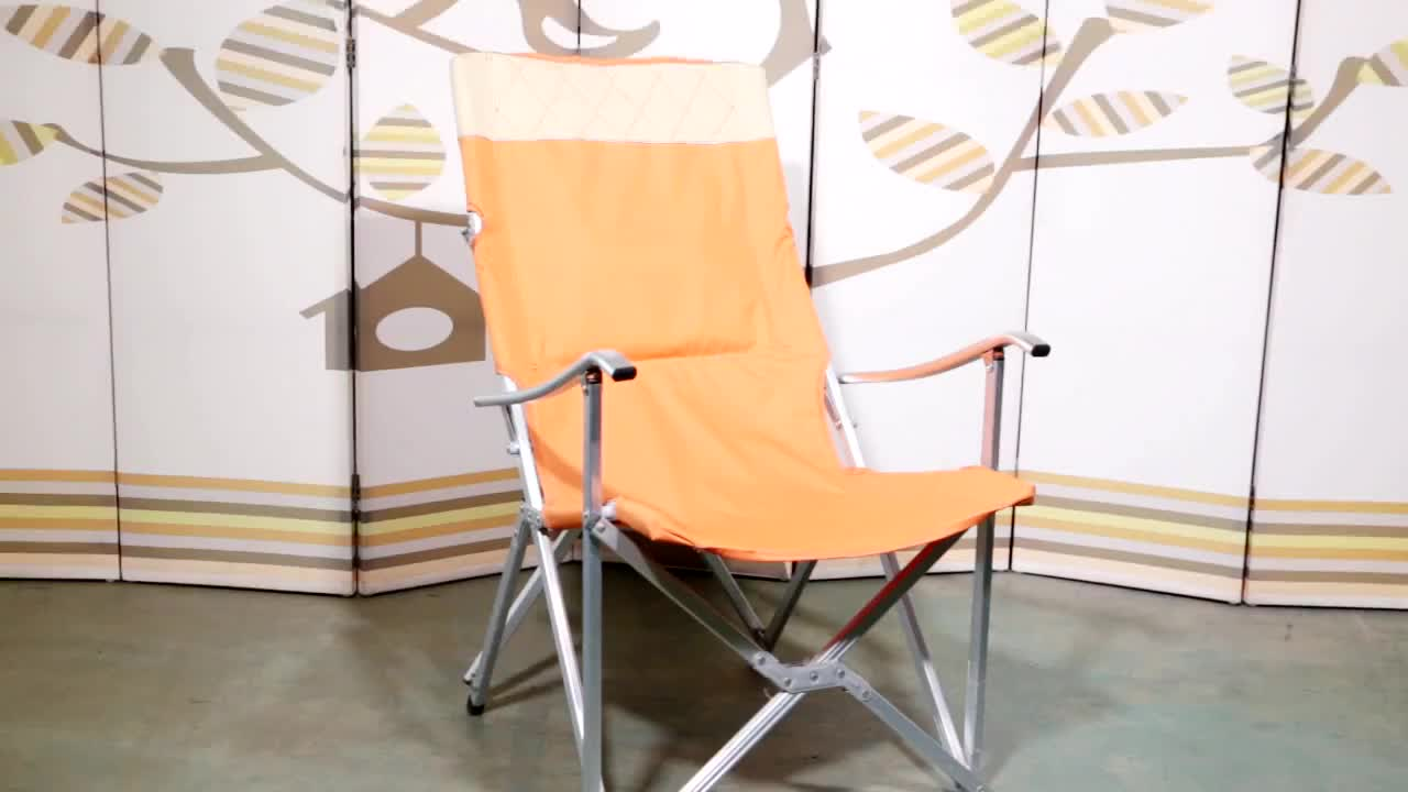 wholesale outdoor aluminium beach chair portable folding fishing reclining camping  chair