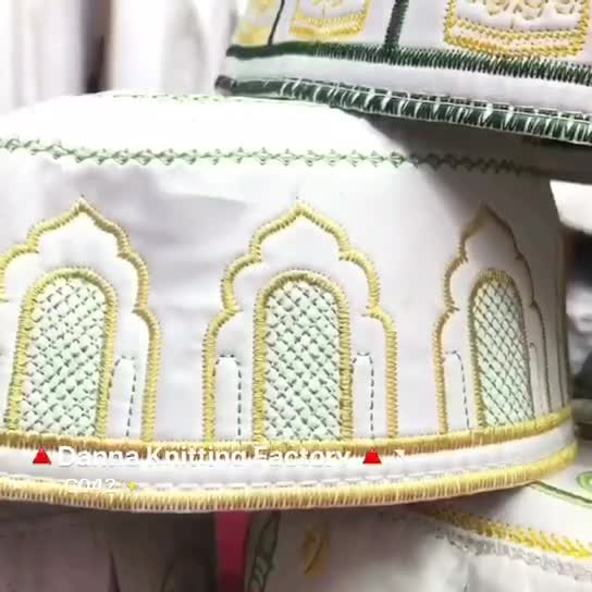 China Factory Direct Islamic Computer Cap Embroidery Men Prayer Cap