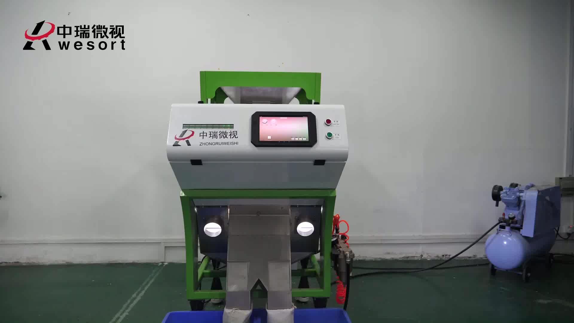 Recycling Plastic Deeltje Kleur Sorteren Machine