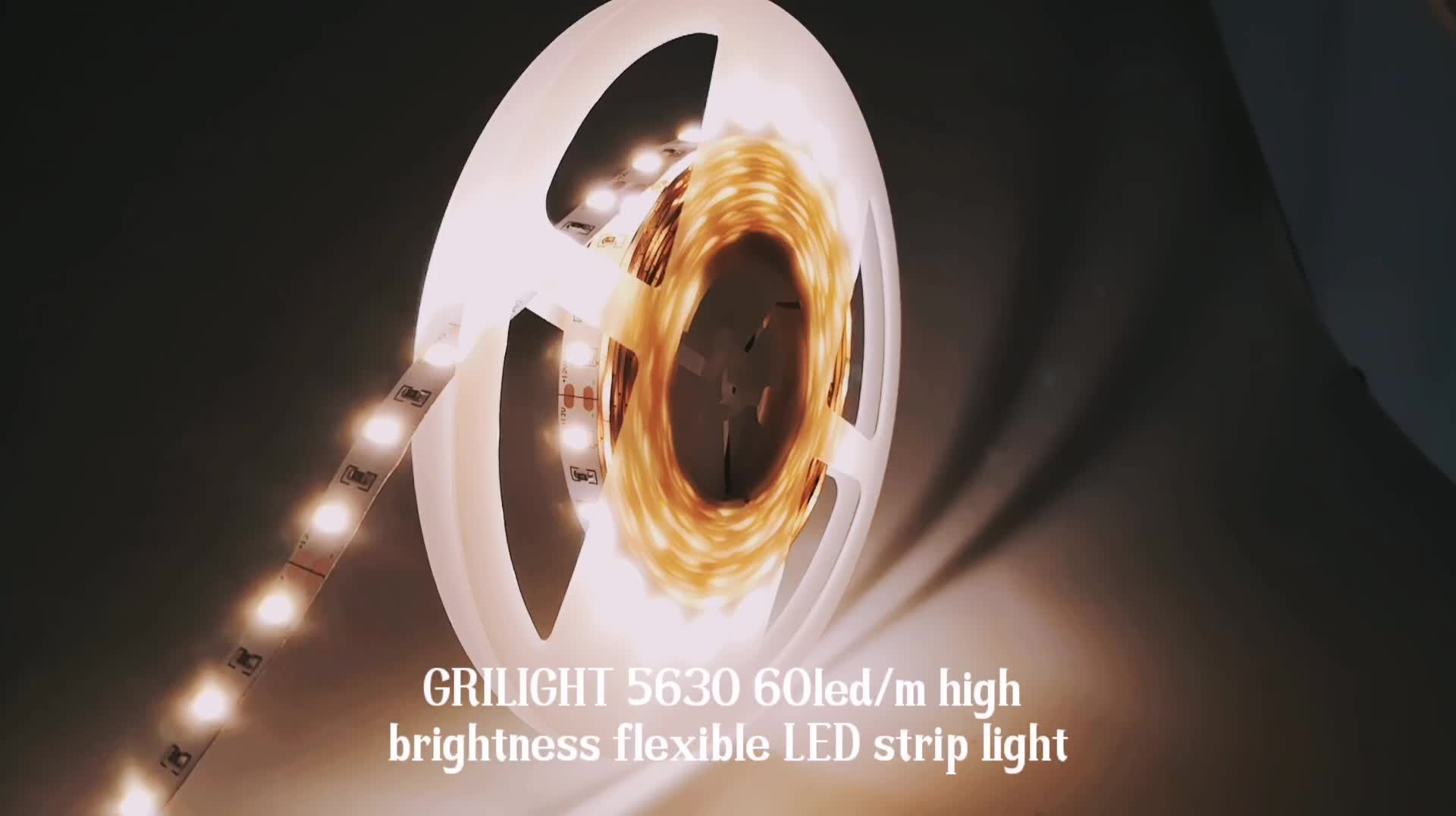 High quality constant current led strip 5630 flexible waterproof led strip light