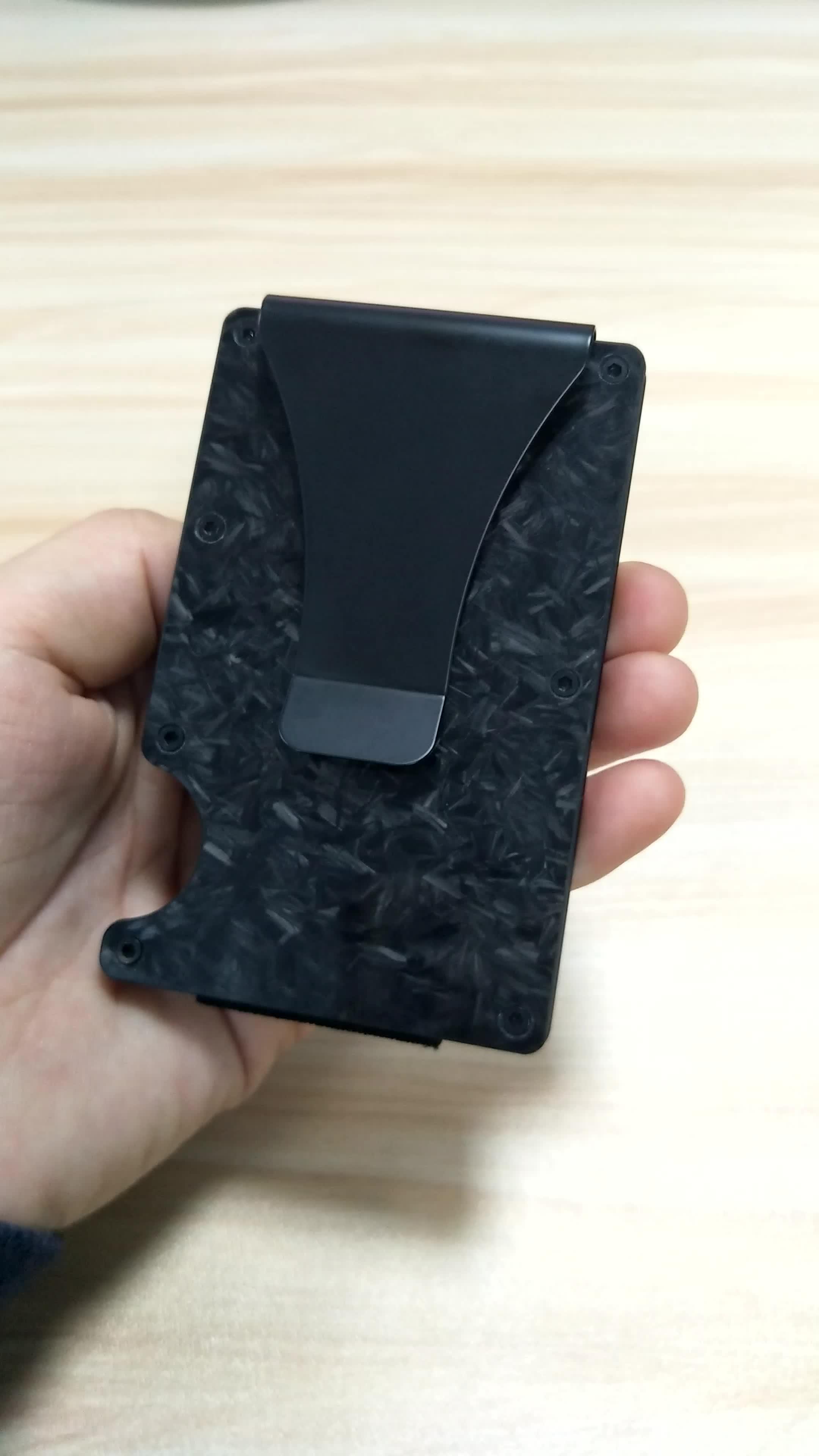 Hot selling Metal Money Clip, Carbon Fiber Card Holder Slim Pocket Wallets for Men & Women