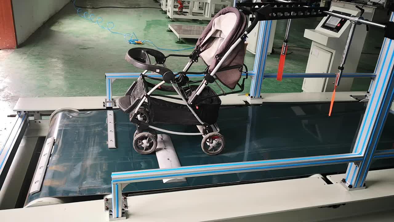 Kinderwagen bestrating dynamische vermoeidheid duurzaamheid wandelwagen tester/test apparatuur/testen machine